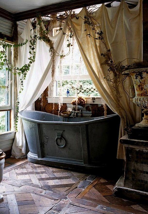 best 25 rustic bathtubs ideas on pinterest bath tub. Black Bedroom Furniture Sets. Home Design Ideas