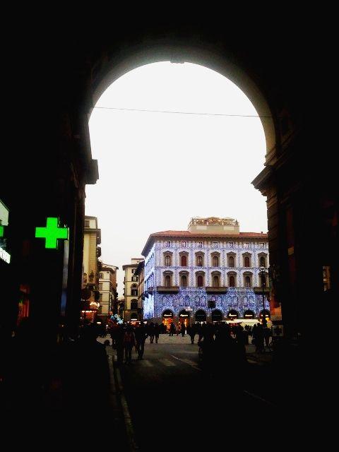 Piazza della Repubblica from the Arch #Florence