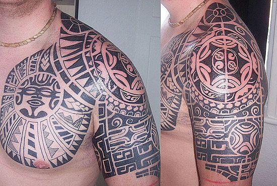 Upper Shoulder Tattoos for Men | Tribal Shoulder Tattoo Designs For Men