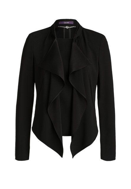 Kurz geschnittener Blazer von Laurèl, der zeitloses Schwarz und moderne Form perfekt miteinander verbindet. - schwarz von LAURÈL bei OUTLETCITY.COM bestellen.