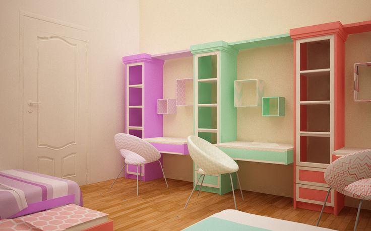 Children room for 3 kids #studyarea #kidsroom #children room