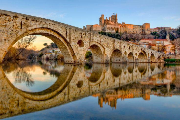 """Le Canal du Midi, """"l'œuvre de génie civil la plus grandiose..."""" Arte - http://www.blog-habitat-durable.com/le-canal-du-midi/"""