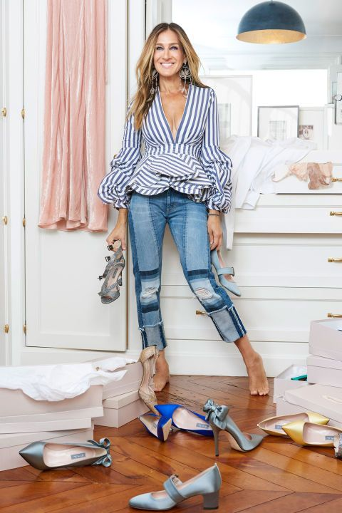Sarah Jessica Parker celebrates her new party shoe collection with Net-A-Porter