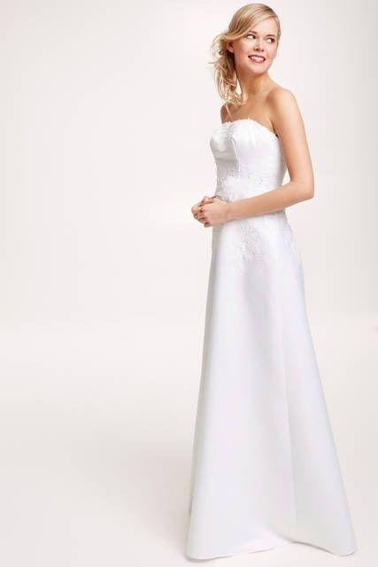 Robe de mariée bustier en satin blanc