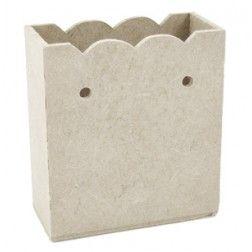 Sacolinha Enfeitada Pequena MDF 7,5x3,5x8,5 - Cod.: 785