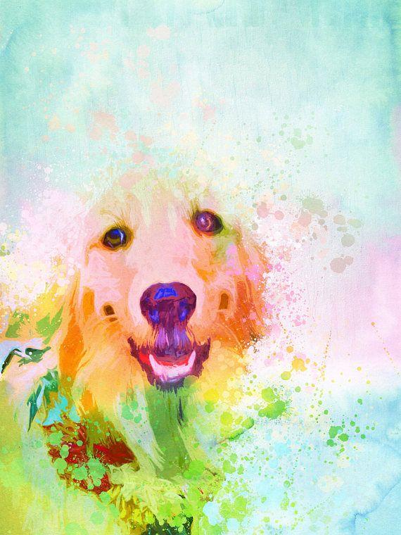 Watercolor dog portrait Custom dog portrait Custom pet
