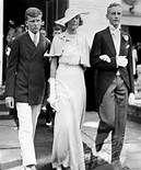 Madeleine Astor with her two sons from her second marriage at her son John Jacob Astor VI wedding in 1934.