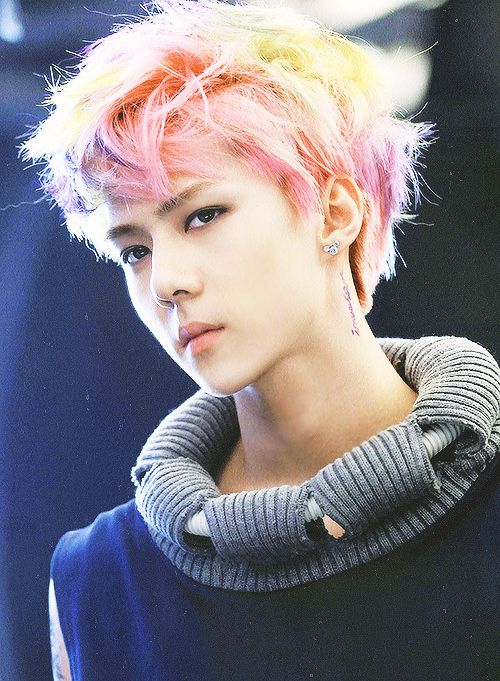 sehun rainbow hair - Google Search