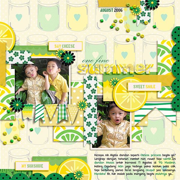 Phantasmagorical by Little Green Frog Designs. Lemon Drop by Meta Wulandari Designs.