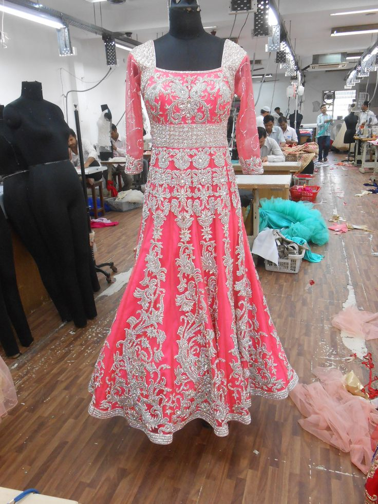 Designer Pink Bridal gown