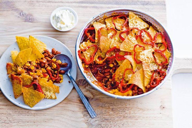 Delicioso! De knapperige tortillachips en de bonen en mais maken het écht Mexicaans. - Recept - Allerhande