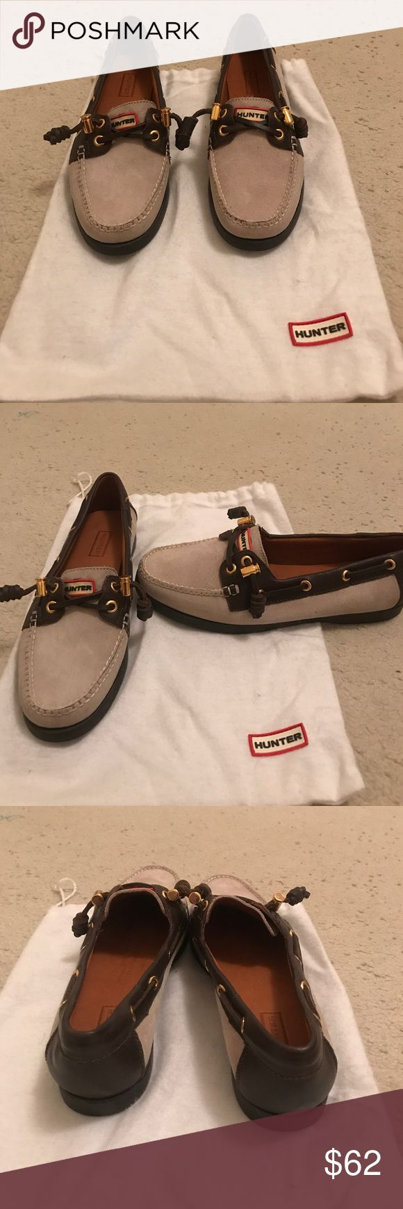 NEW HUNTER Boat Shoes RARE 7.5 Incredible pair of new never worn Hunter boat shoes, size 7.5, in original dust bag Hunter Shoes