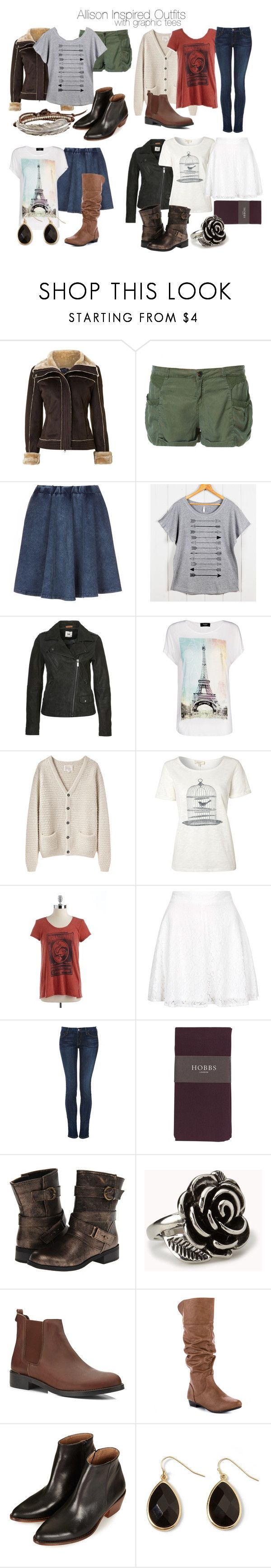"""Allison Inspired Outfits with Graphic Tees"" by veterization ❤ liked on Polyvore featuring Armani Jeans, Zara, Feather 4 Arrow, Lee, MANGO, La Garçonne Moderne, Linea Weekend, Lucky Brand, Topshop and Koral"