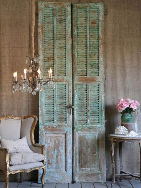 17 best ideas about distressed shutters on pinterest - Shutters for decoration interior ...