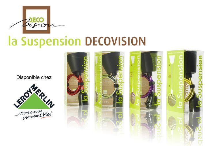 Retrouvez dès à présent les #Suspensions #luminaires #DECOVISION dans les magasins #LEROY #MERLIN