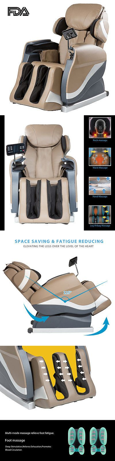 Electric Massage Chairs: Merax Full Body Shiatsu Massage Chair Foot Roller Recliner BUY IT NOW ONLY: $549.0