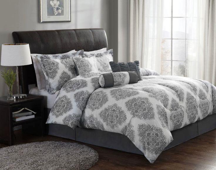 Ooh We Like The New Barba Comforter Set Modern Gray And White Bedding Set