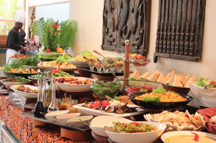 The african regent hotel has the best buffet brunch food