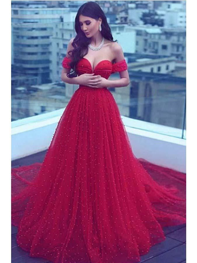 99d26f192f96 Luxury Prom Dresses Sweetheart Beading Sparkly Red Prom Dress Long Evening  Dress JKL833