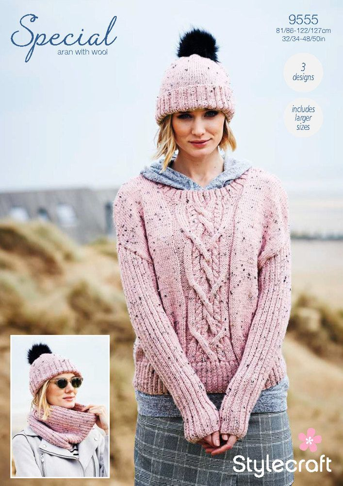 Sweater, Cowl & Hat in Stylecraft Special Aran with Wool Knitting ...