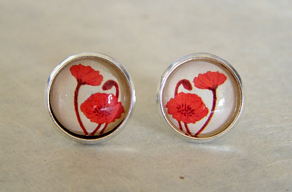 Original Illustrations behind glass, earrings by Kailey Lang available at ArtistsWalk
