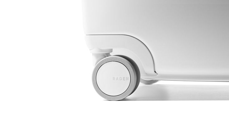 Raden luggage wheel by Kenneth Sweet #design #minimal #product #industrialdesign