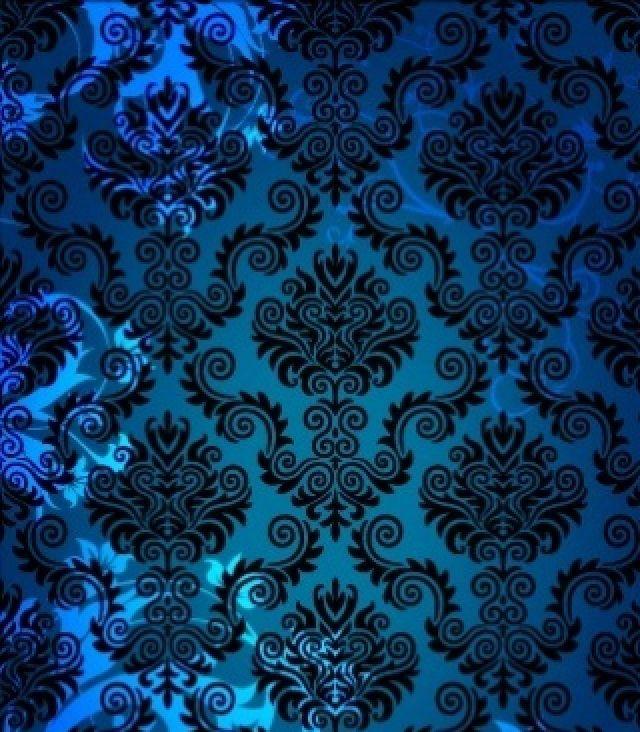 Pattern turquoise black damask wallpaper pattern - Turquoise wallpaper pinterest ...