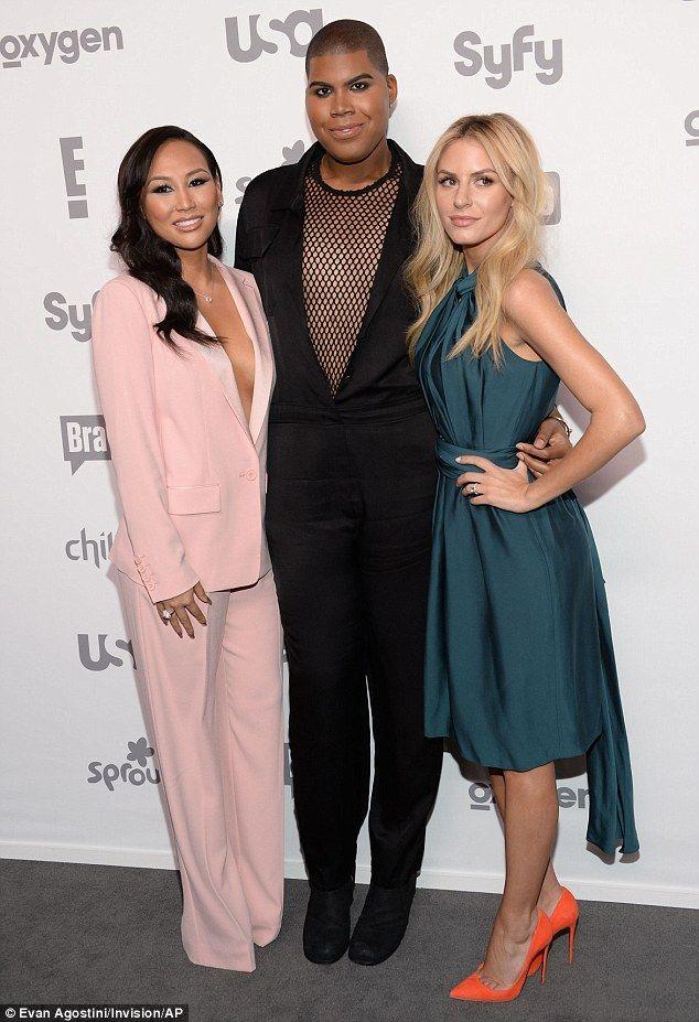 Showing off their fashion credentials:Dorothy Wang, EJ Johnson, and Morgan Stewart and Ri...