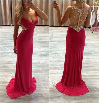 see through prom dress, sexy prom dresses, red prom dresses, long prom dresses, prom dresses 2016, cheap prom dresses,PD160099