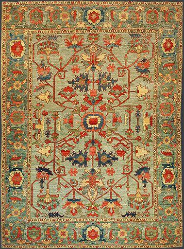 Afghan Heriz Oriental Rug #43725
