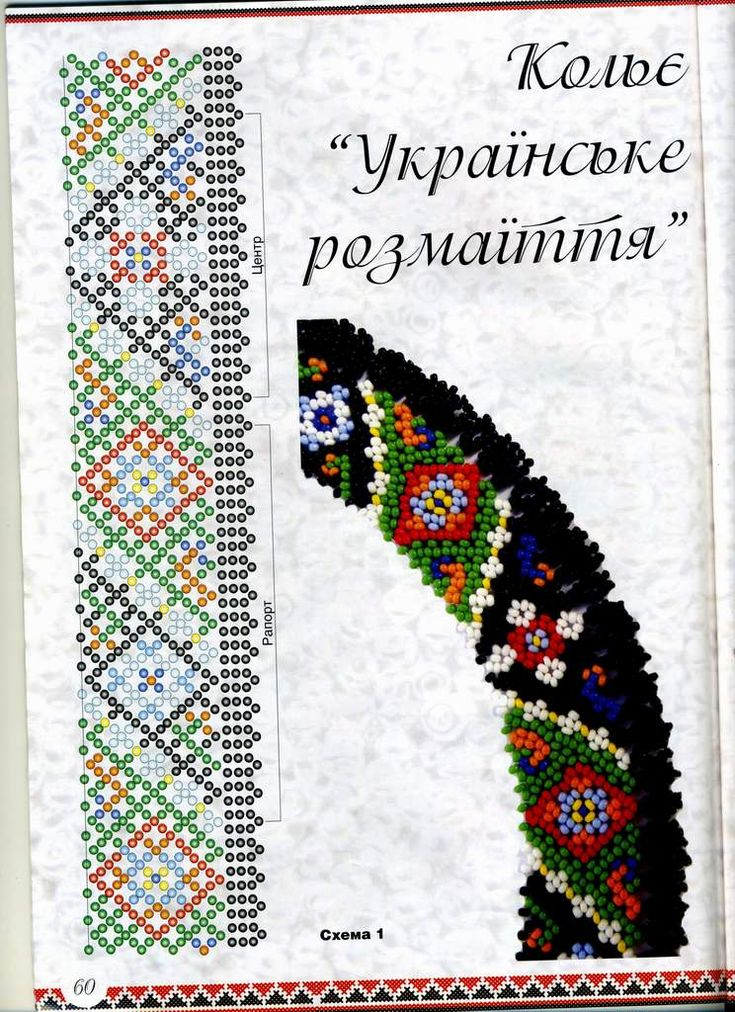 Украинское украшение - Силянка это гердан, или еще одно название силянка из бисера – старинное украшение украинских женщин - сплошная ровная или ажурная полоска,