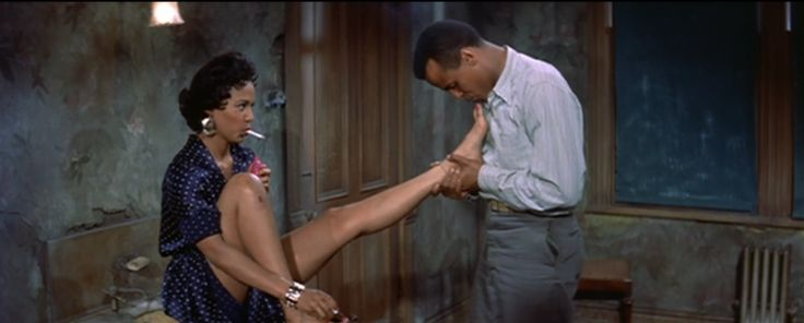 "The sexy, erotic 1950s underground wasn't nearly as prudish and sexually stifled as revisionists claim. It was there, but it was also the season for back-catalog stag films, explicitly erotic dime-store pulp novels and films challenging the might censors. [Still: Dorothy Dandrige and Harry Belafonte electrified the screen in Otto Preminger's 1954 ""Carmen Jones,"" an adaption of Bizet's opera.]"