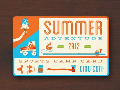 ID Card for Summer Camp Meal Programs. Complete with fresh pickles, roller-discos and a camp fire.