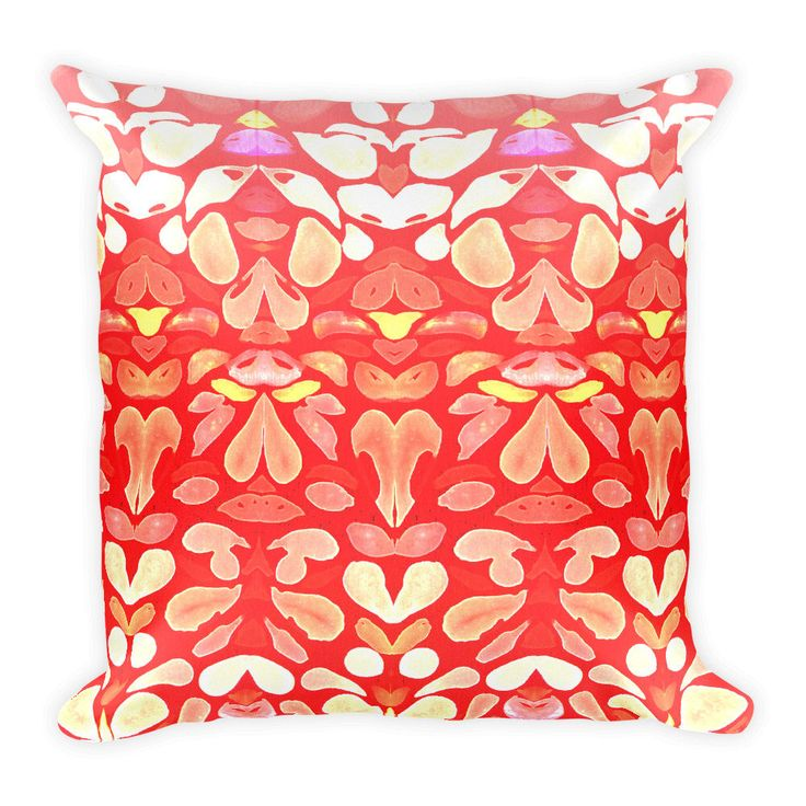 A pillow and cushion orange red personal favorite from my Etsy shop https://www.etsy.com/listing/553345638/autumn-sunburn-square-pillow-by | Home Decor Art Fashion designs by @ANoelleJay @etsy