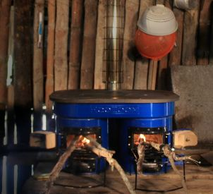 Awesome idea for a rocket stove.