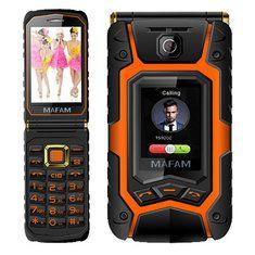 MAFAM X9 Téléphone Flip Rover 3,5 pouces 2500mAh Double écran double carte SIM FM Long Standby Mobile Phone