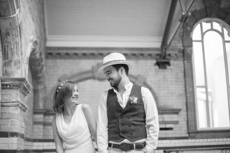 Victoria Baths Wedding - Bride and Groom - Black and White Couple photograph