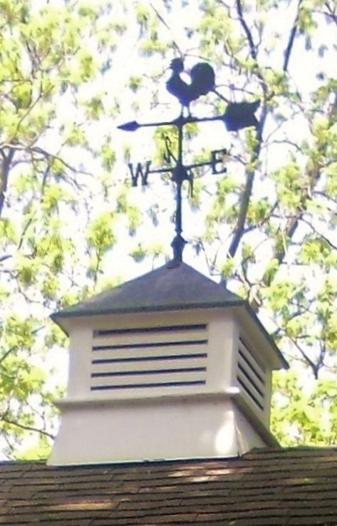 Rooster weathervane cupola brought back from the amish for Country cupola