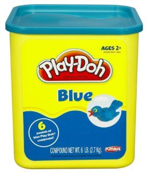Play-doh 6 lb Container - Blue by Hasbro. $29.99. Unlock your creative juices with PLAY-DOH modeling compound. Will keep you busy with hours of molding fun. Great for classroom, playrooms and PLAY-DOH parties. Six whopping pounds of blue-colored PLAY-DOH compound. So much compound, so little time. From the Manufacturer                Unlock your creative juices with PLAY-DOH modeling compound – six whopping pounds of it. So much compound, so little time. Mix with oth...
