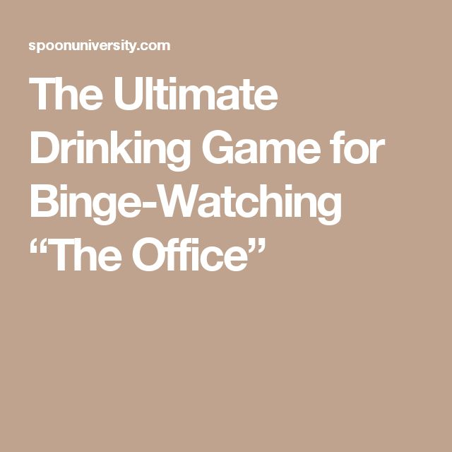 """The Ultimate Drinking Game for Binge-Watching """"The Office"""""""