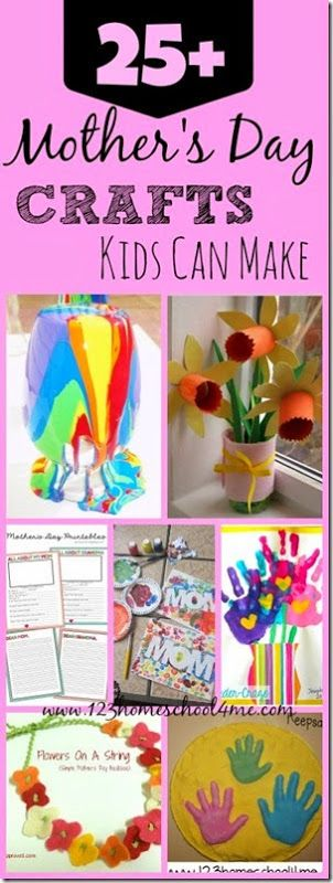 25+ Mother's Day Crafts that kids can make - they make great mothers day gifts!