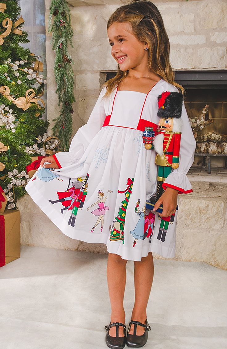 Find the perfect girls' Christmas dress for all your family's special occasions this holiday season! Shop Eleanor Rose Nutcracker collection on November 4th!