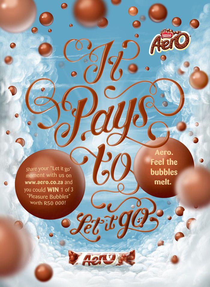 Aero Bubbles Ornate typography, 3D fluid illustration : by Disko Ferdi Dick