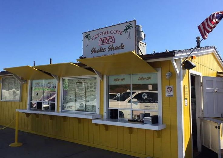 The Shake Shack at Crystal Cove Southern California landmark for over fifty years. Enjoy amazing views while sipping a date shake or burger.