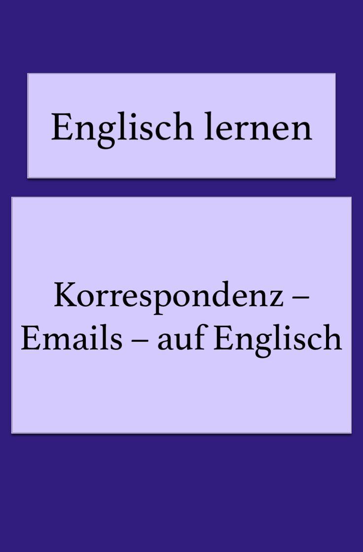 Englische Korrespondenz   Englisch, Englisch lernen