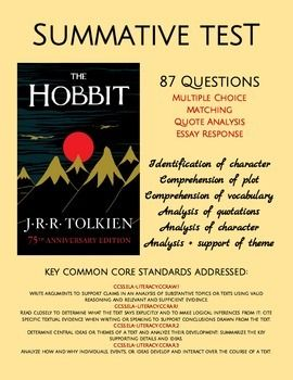 the hobbit test answer key more summative assessment multiple choice and reading. Black Bedroom Furniture Sets. Home Design Ideas