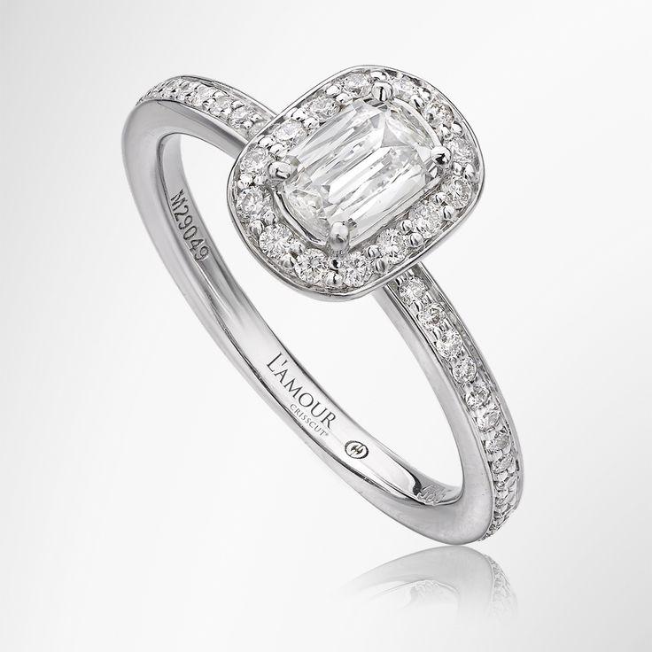 Crisscut Lamour Engagement Rings