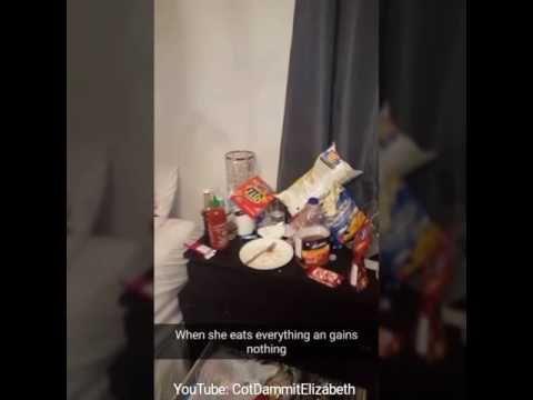 Cot Dammit Elizabeth! When ur girlfriend steals your snacks!!! - YouTube