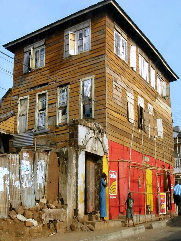 Typical Old Creole Style House, Freetown, Western Sierra Leone