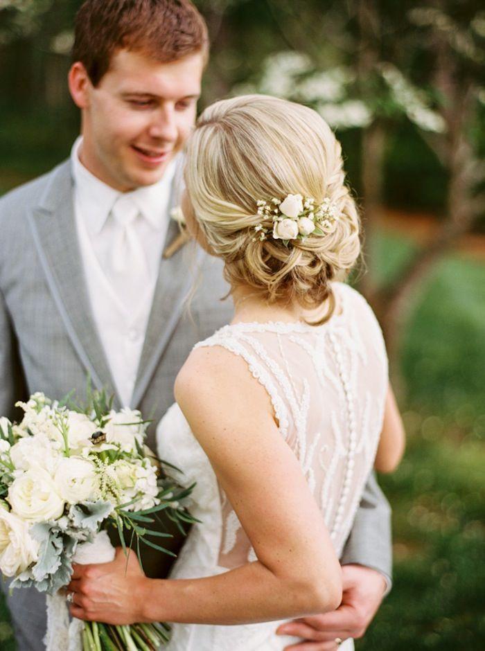 elegant updo wedding hairstyle idea; photo: Graham Terhune